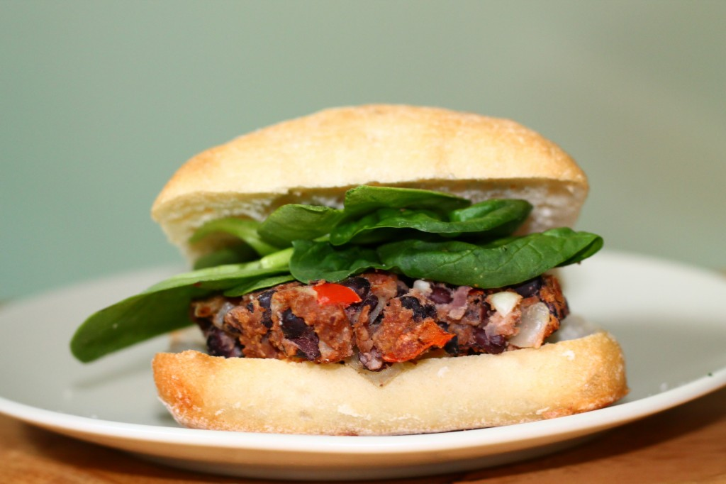 Black bean and feta burgers