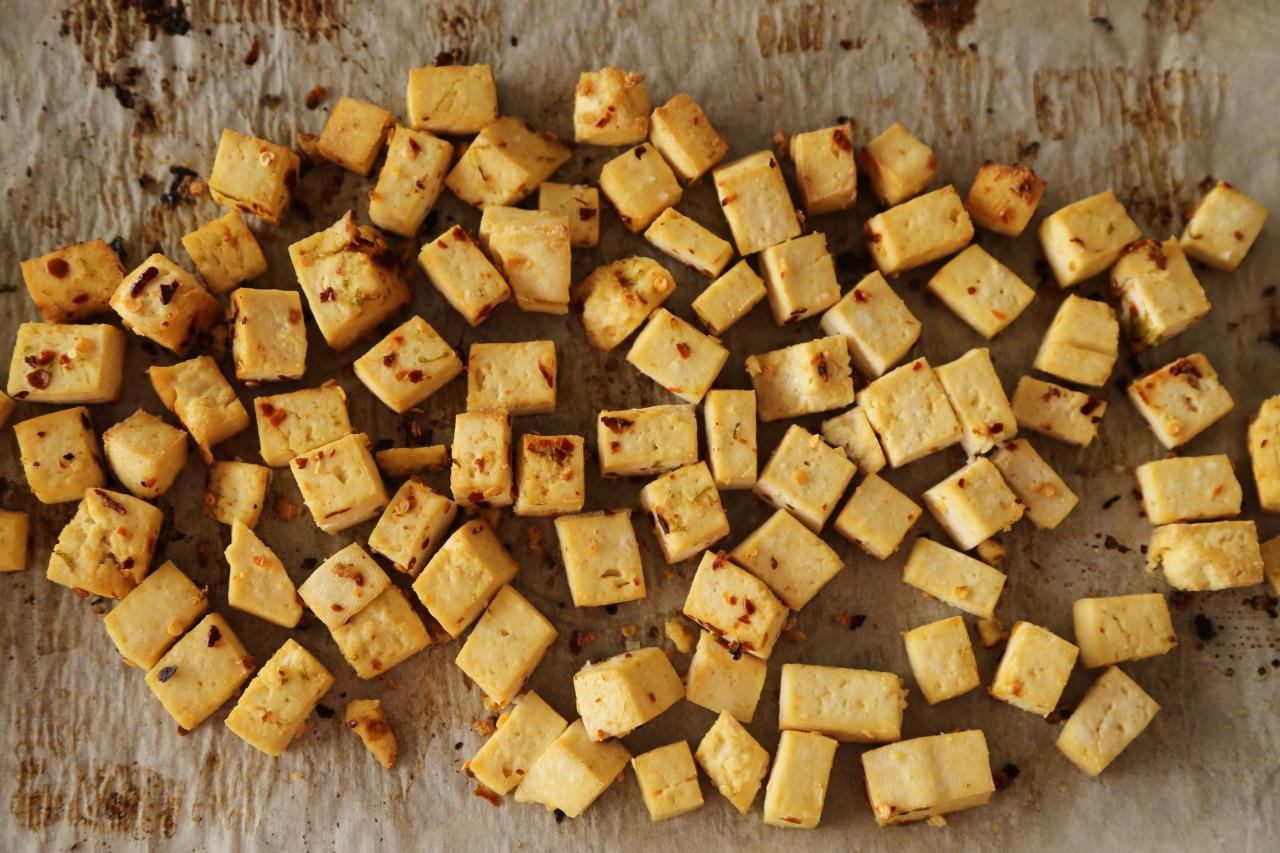 Perfectly roasted tofu