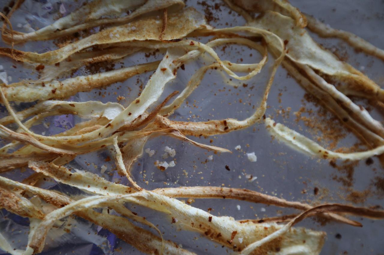 Parsnip crisps