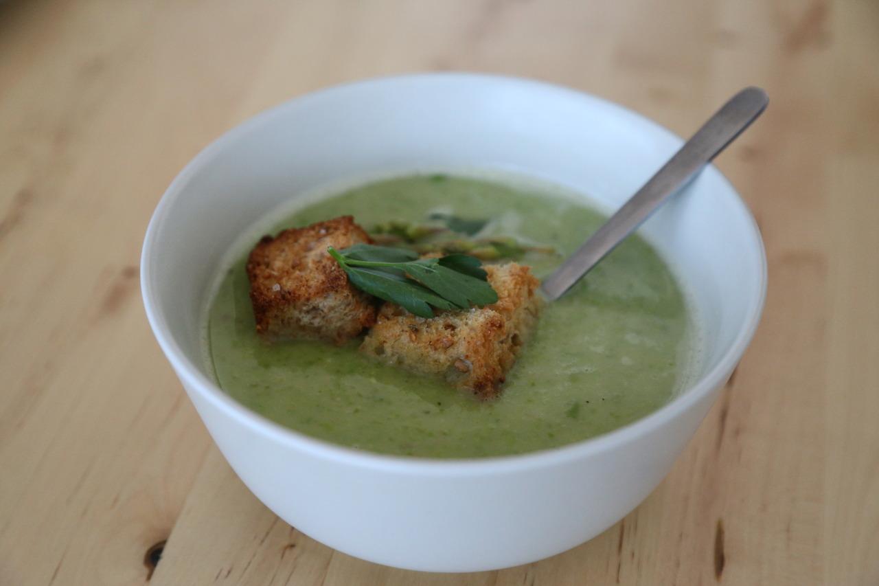 Creamy spring soup