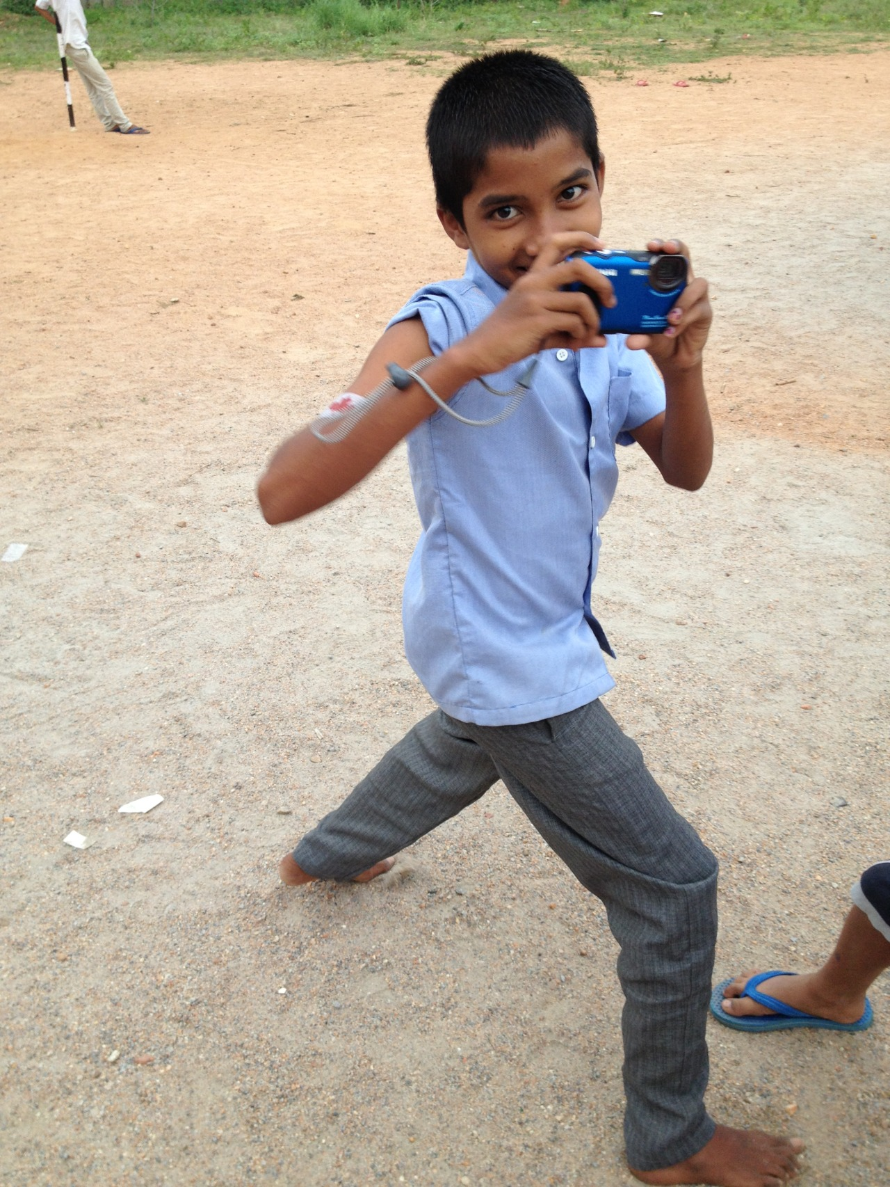 A budding photographer at the HIV care centre and orphanage