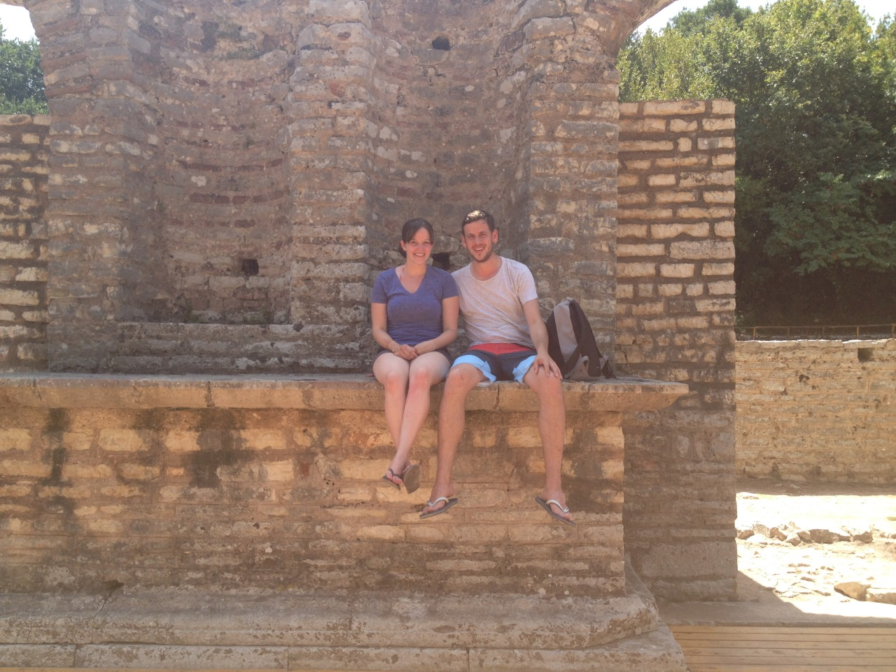 At the Butrint ruins in Albania
