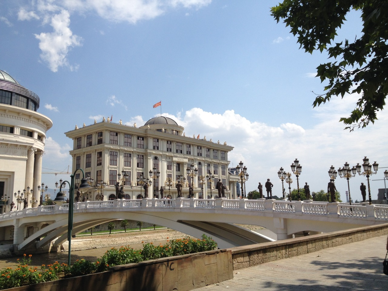 Ostentatious monuments in Skopje