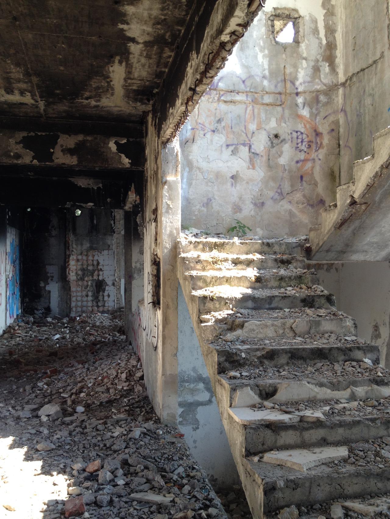 Shelled hotel in Sarajevo