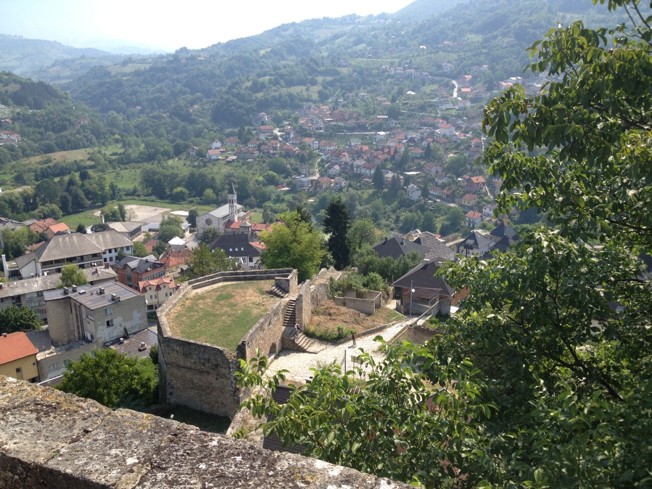 View of Jajce from the medieval fortress