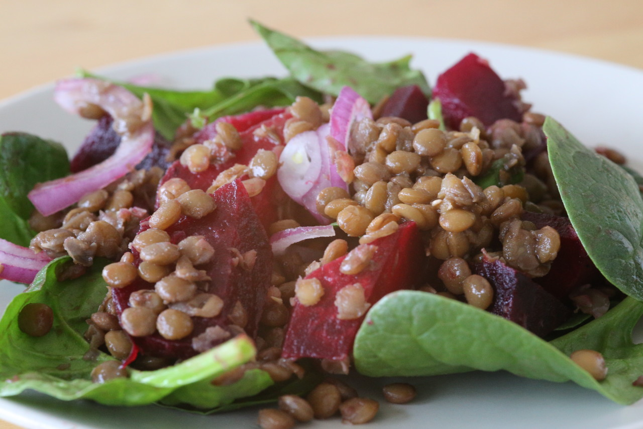Lentil and Roast Beet Salad