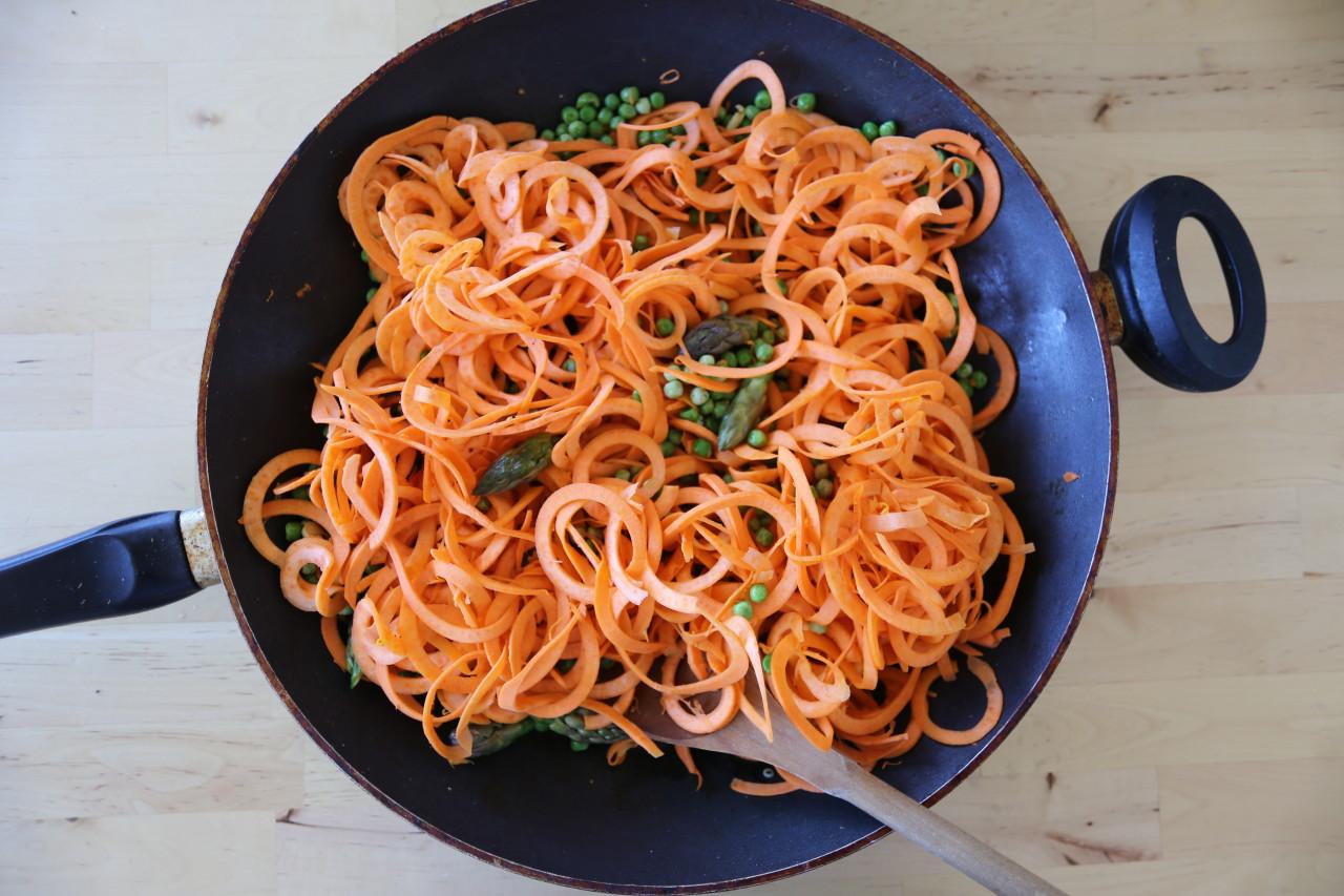 Sweet potato noodles!