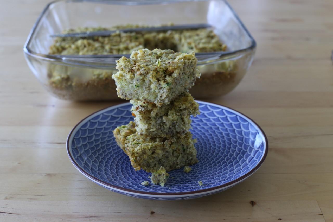 Vegan zucchini cornbread