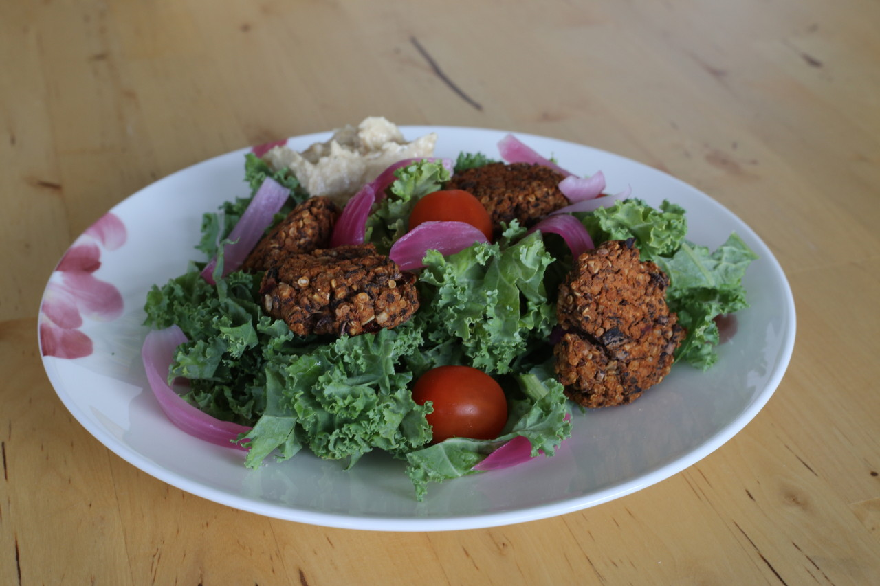 Black bean falafel bowl
