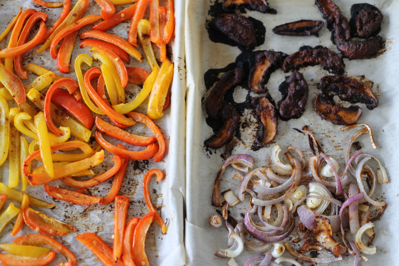 Sheet pan veggie fajitas